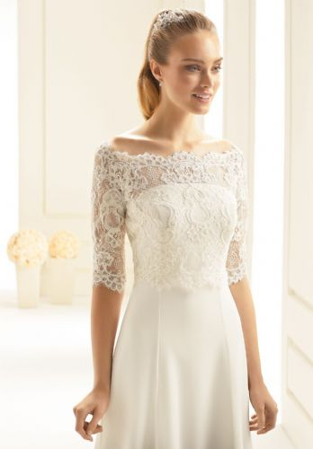Carolina  lace bridal bolero, lace wedding jacket